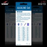 AG13 1.5V alkalische Tasten-Zellen-Batterie Lr44