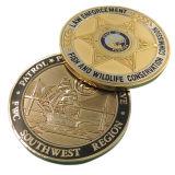 Kundenspezifisches Sandblasting Florida Patrol Coins für Emblem (XD-0309)