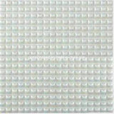 2016 bianco Full Body Glass Mosaic Tiles per House Decoration