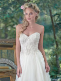 Klassisches Sleeveless trägerloses Strand-Hochzeits-Kleid