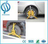 차 안전을%s 적은 삼각형 작풍 바퀴 죔쇠 또는 바퀴 자물쇠