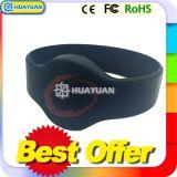 Bracelet de bracelet de silicones d'IDENTIFICATION RF du niveau MIFARE DESFire EV1 2K de haute sécurité pour le système de paiement de Cashless