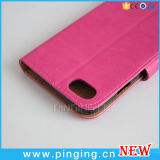 Caixa móvel de couro do telefone de pilha da aleta para o iPhone 7/6/6s mais casos