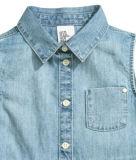 Отворот Dree джинсовой ткани девушки безрукавный