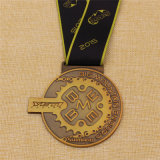 A annoncé la médaille de bronze d'argent d'or de fini antique en métal