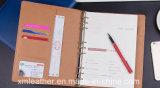 Cahier en cuir d'écriture d'ordre du jour de livre d'Excerise de couverture