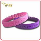 Bracelete Recessed do silicone da suficiência de cor do presente costume relativo à promoção