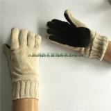 7g Handschoenen van het Leer van de Kleur van de Melk van de Machine van de cirkel de Acryl Gebreide