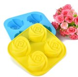 Gelée DIY de moulage de gâteau de Rose de silicones de 4 trellis décorant le moulage