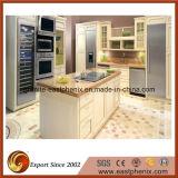 Bancada bege da cozinha da pedra de quartzo da venda quente