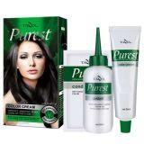 Tazol cosmética Sin Amoniaco color permanente del pelo (Negro Natural) (50 ml + 50 ml + 10 ml)