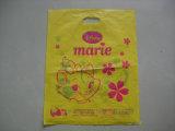 Progettare il sacchetto per il cliente di plastica biodegradabile a buon mercato tagliato di acquisto della maniglia della zona del PE di stampa di marchio