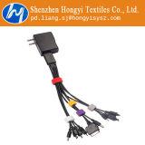 Schwarze mehrfachverwendbare Haken-und Schleifen-Kabelbinder