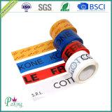 Fita impressa da embalagem de OPP adesivo branco com adesão forte