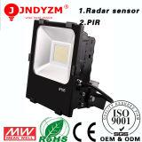 Buena luz de inundación del sensor LED del molde 50W PIR del diámetro del disipador de calor del alto brillo Cp3