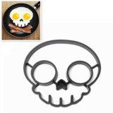 Schwarzer Schädel formte Nahrungsmittelgrad-Silikon gebratene Ei-Form
