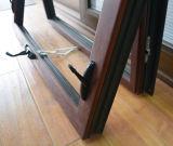 Guichet en bois en aluminium de tente de profil de qualité avec le blocage détraqué Kz301