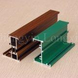 Marco de aluminio de la impresión de madera para la ventana de desplazamiento