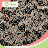 L'usine dirigent le tissu italien en nylon de lacet de couleur noire de 150 cm