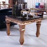 현대 새로운 디자인 대리석 최고 금속 다리 침대 측 테이블