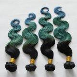 """24 """" #Orange non trattato del #Blue dei capelli di estensione ss Ombre dei capelli umani"""