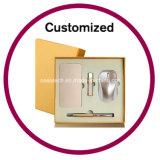 Conjunto corporativo del regalo de la pluma de Keychain del reloj