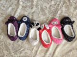6つのカラー動物のヘッドプラシ天の屋内靴