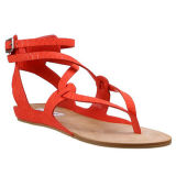 Niedrige Ferse PU Dame Sandal