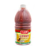 Knoblauch-Soße des Paprika-268g in der Haustier-Flasche