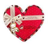 Rectángulo de regalo de la dimensión de una variable del corazón del amor/caja de embalaje del chocolate con la cinta