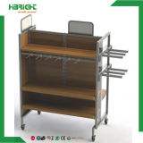 MDF Wooden Retail Table Shoe Garment Display Stand Rack Etagères