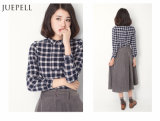 Spring 2016年のための格子Casual Lady Blouse