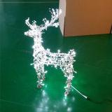La luz LED del adorno animal de la Navidad 3D