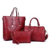 نمط تمساح 3 [بكس] ثبت حقائب إمرأة سيدة [بو] جلد مصممة حقيبة يد