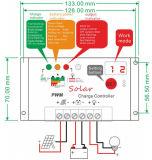 太陽エネルギーシステム(QWP-1420T)のための12V/24V 20Aの太陽コントローラ
