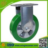 산업 피마자를 위한 녹색 고무줄 PU 바퀴 피마자