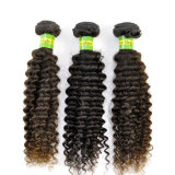 Hair umano Weave 7A Natural Kinky brasiliano Curly Virgin Remy Extension Lbh 025