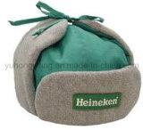 暖かい冬季スポーツ帽子、耳を搭載する野球帽
