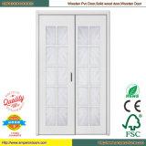 Дверь PVC стеклянной двери PVC двери ванной комнаты PVC нутряная