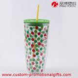 culbuteur en verre en plastique de polka 18oz de modèle coloré de POINT