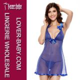 The New Blue Gold Mesh Sexy Babydoll L27978-3