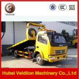 Carro de remolque plano del camión de auxilio de la diapositiva de DFAC 4*2 para la venta