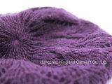 Берет 100% акриловый пурпуровый связанный
