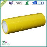 Лента упаковки желтого цвета слипчивая OPP высокого качества для коробки запечатывания коробки
