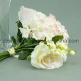 Fiore artificiale del mazzo del Hydrangea & della Rosa per la decorazione (SF12496)