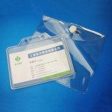 Détenteur de carte en plastique de PVC de modèle simple d'OEM pour par la carte de crédit