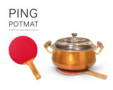 Natte Shaped de Trivet de support de pot de silicone de batte anti-calorique de ping-pong