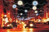 通りの装飾の星のクリスマスの照明ロープのカーテンライト
