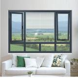 Finestra di alluminio di vendita calda con il doppio vetro temperato (FT-W135)