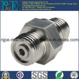 Precision Custom CNC Usinage Steel Hexagonal Connector